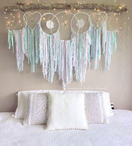 decorare camera da letto con acchiappasogni