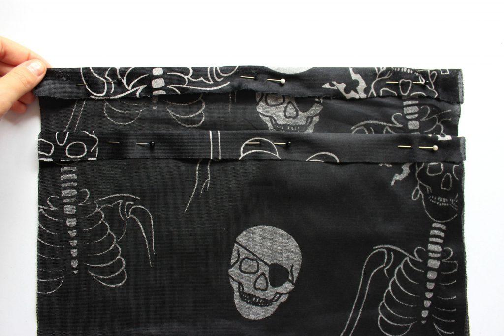 tutorial halloween sacchetto tessuto