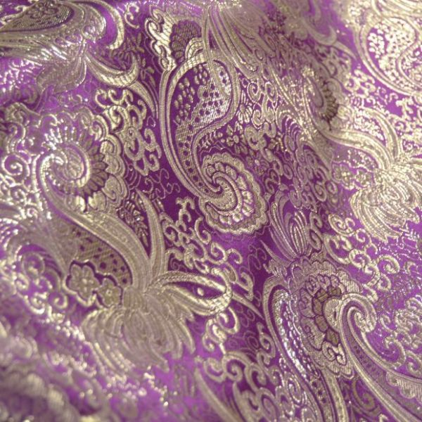 tessuto broccato viola