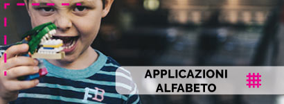 Applicazioni Alfabeto, utili sia come decorazione, che come toppe adesive per rammendare indumenti.