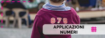 Applicazioni Numeri, ampissima scelta tra tantissimi soggetti per i più piccini sia da bambino che da bambina ma anche per i più grandi con tantissime etichette termoadesive da donna e da uomo.