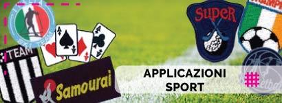 Applicazioni Sport, utili sia come decorazione, che come toppe adesive per rammendare indumenti.