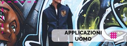 Applicazioni Uomo, utili sia come decorazione, che come toppe adesive per rammendare indumenti.