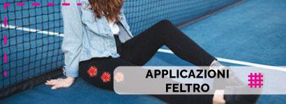 Applicazioni Feltro, utili sia come decorazione, che come toppe adesive per rammendare indumenti.