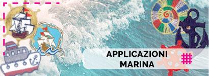 Applicazioni Marina, utili sia come decorazione, che come toppe adesive per rammendare indumenti.