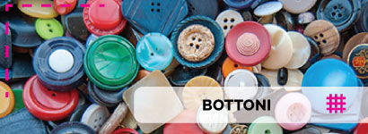 Bottoni di alta qualità, tantissima varietà per i bottoni a bustina linea madreperla con splendidi riflessi.