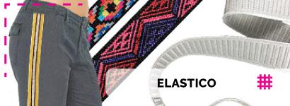 Elastico con diverse funzioni e applicazioni, come l'elastico gallone oppure l'elastico gro ideale anche per la creazione di braccialetti e bijoux fai da te.