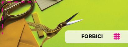 Forbici da sarto che permettono un taglio precisissimo grazie alle lame affilate, le forbici tessuto o le forbici da ricamo cicogna fondamentali per le appassionate di ricamo.