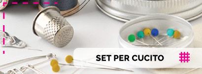 Set per Cucito e accessori, simpatici cestini porta lavoro con bellissime fantasie per tenere in ordine e ben riposti tutti gli oggetti per il cucito a mano.