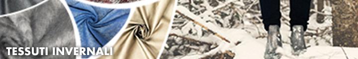 Tessuti adatti alla creazione di abiti invernali per uomo e donna e bambini. Tessuti caldi e confortevoli.