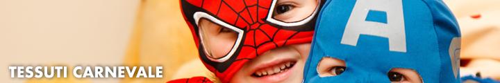 Tessuti carnevale adatti per la creazione di fantastici abiti per bambini e cosplay