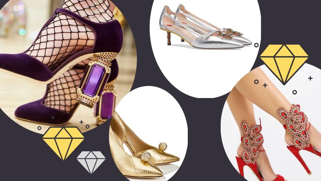 scarpe moda strass termoadesivi