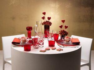 tavola san valentino cuori rossi fai da te