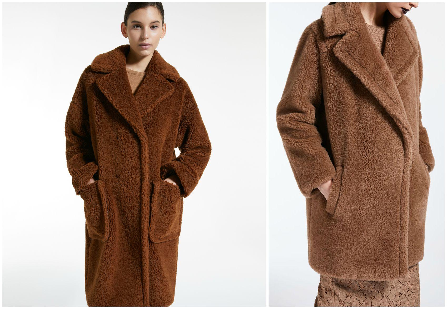 cappotto teddy bear marrone