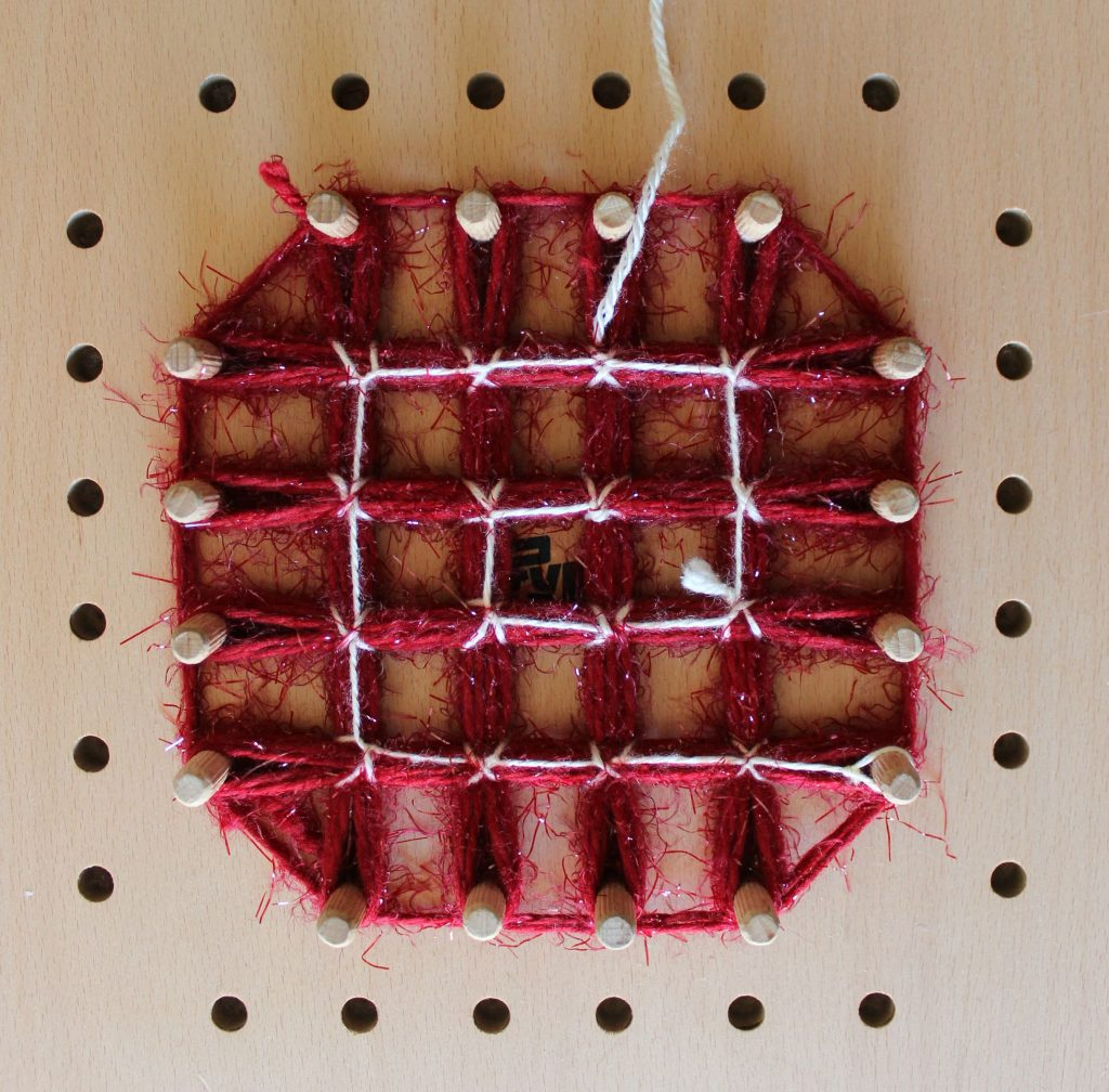 telaio quadrato per lana