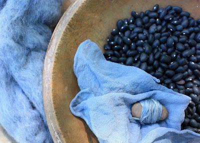 tintura naturale blu tessuto cotone