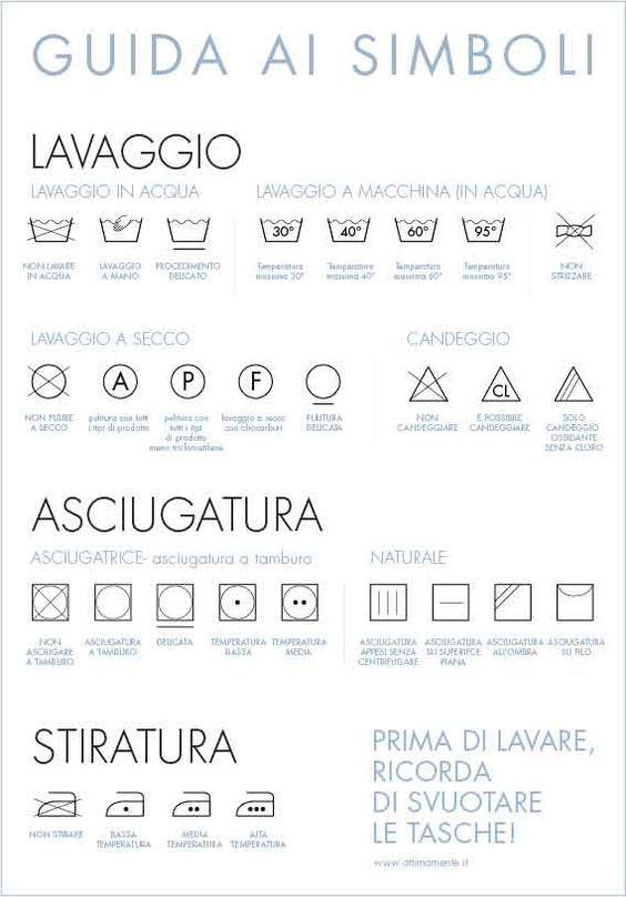 etichette istruzioni lavaggio