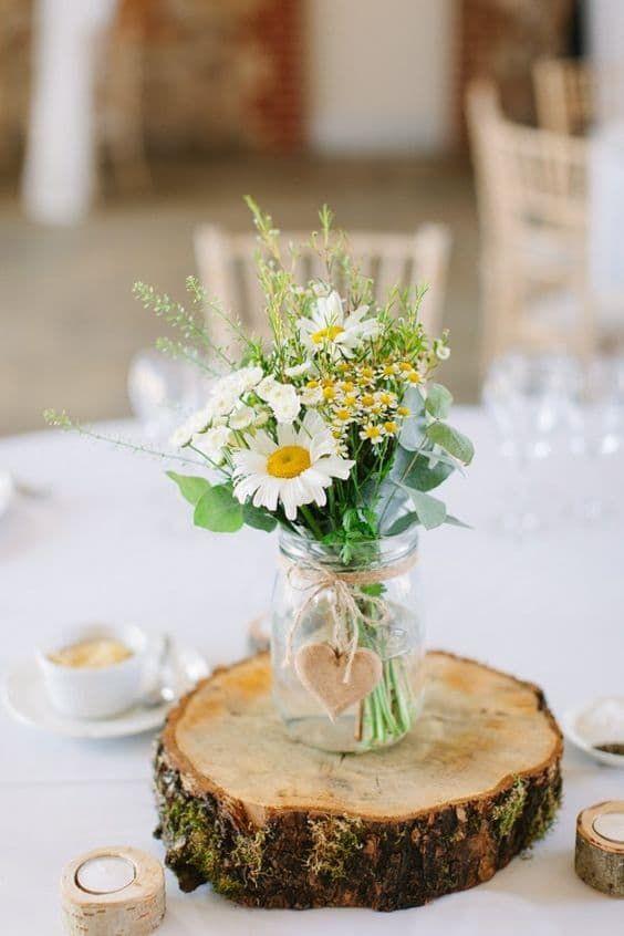 allestimento tavola matrimonio fiori di campo