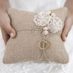 cuscino portafedi matrimonio nozze juta