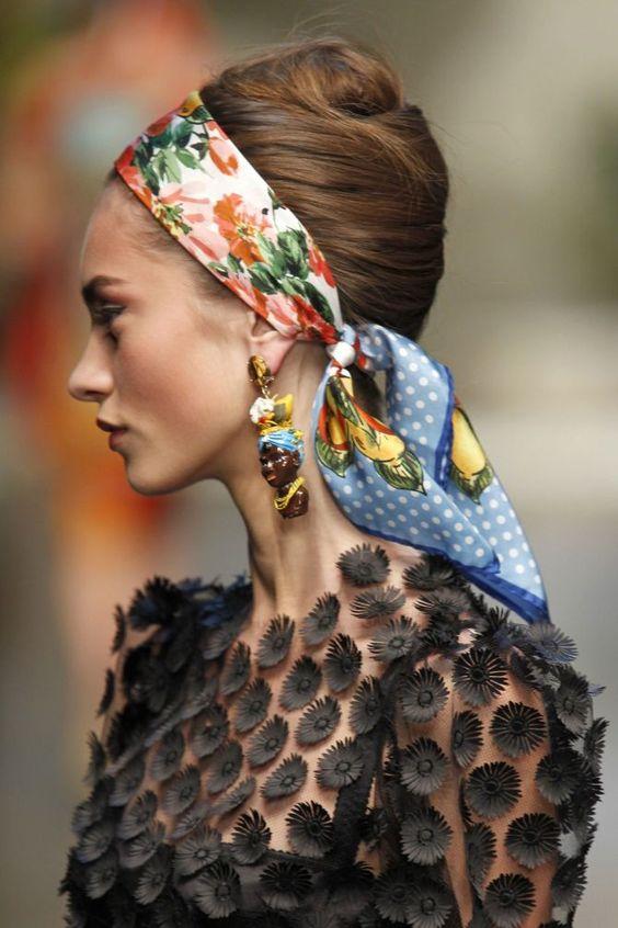 foulard fascia per capelli