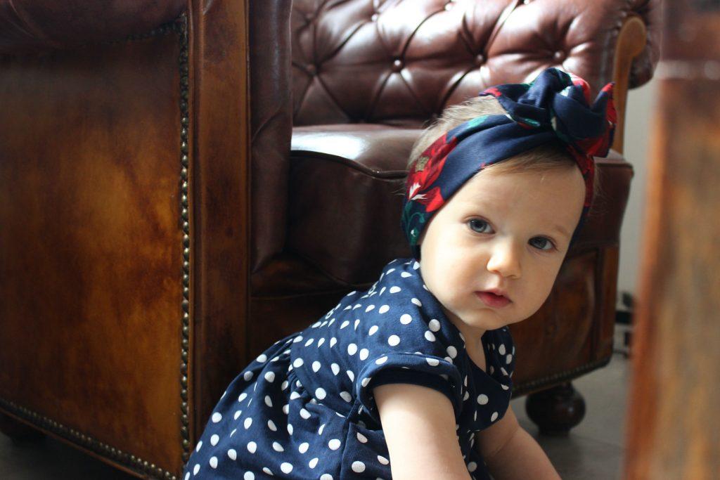 fascia capelli bambina fatta a mano