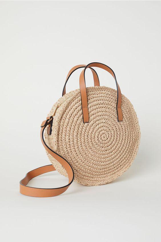 borsa beige corda crochet