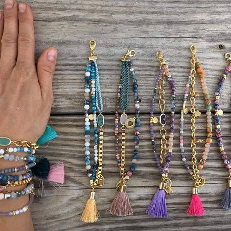 bracciali perline per l'estate