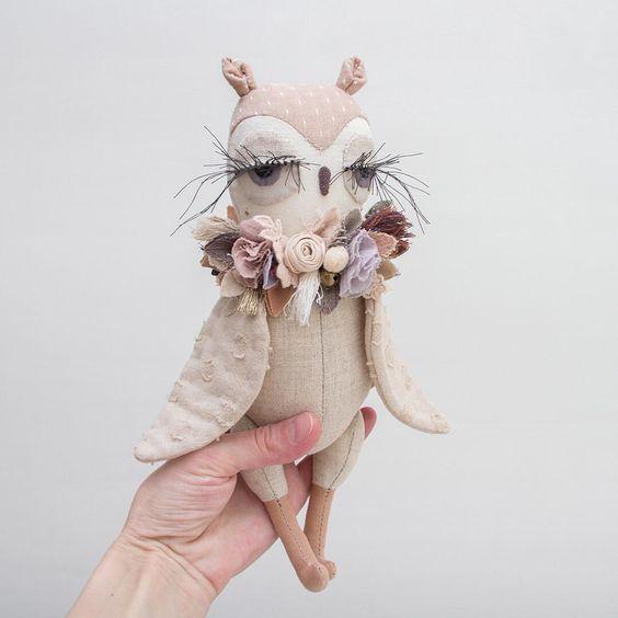civetta cucito creativo tessuto