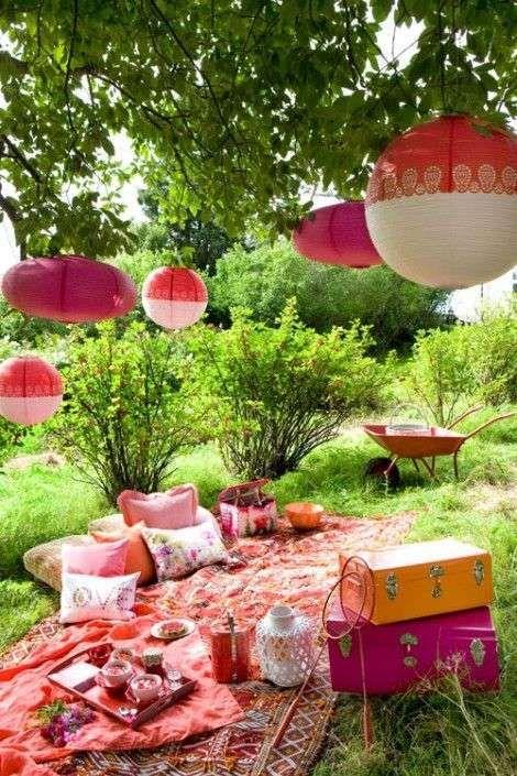 allestimento picnic romantico