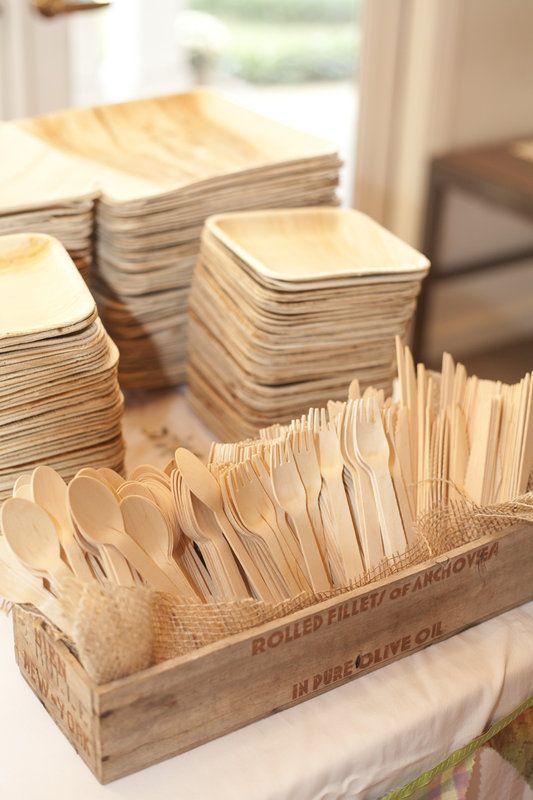 posate ecologiche compostabili in legno