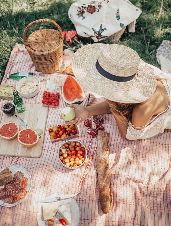 pranzo estate picnic campagna