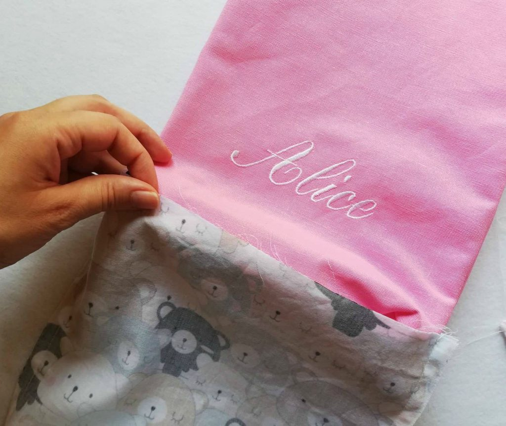 porta pannolini rosa da bambina