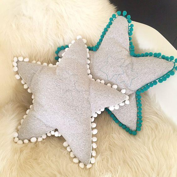 cuscino stella fatto a mano