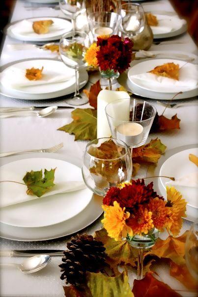 decorare tavola autunno