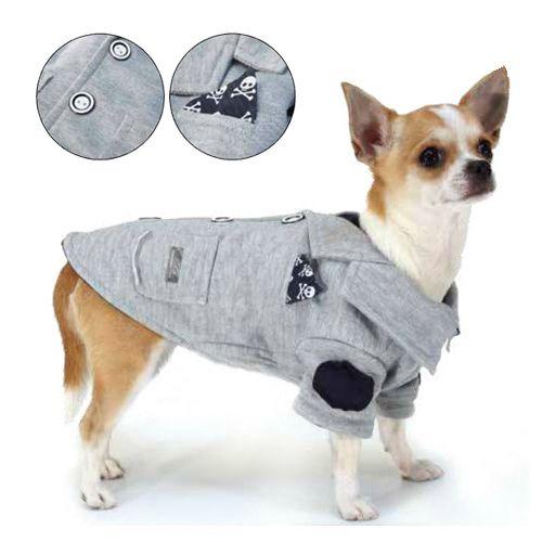 giacca cane felpa grigio