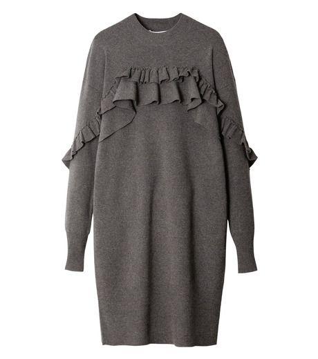 vestito tessuto felpa grigio
