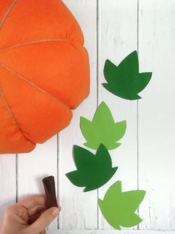foglie pannolenci decorazione casa