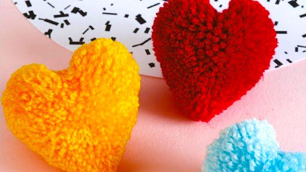 pom pom cuore san valentino