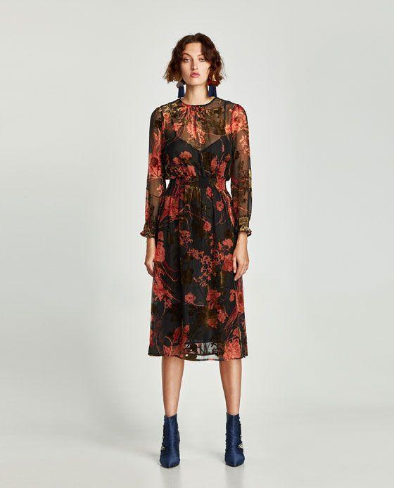 vestito tessuto stampato donna