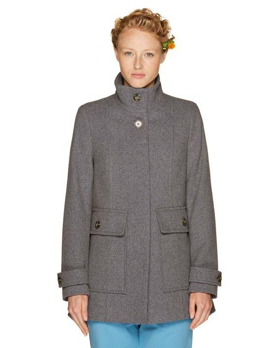 cappotto di panno grigio benetton