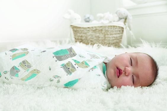 copertina neonato mussola