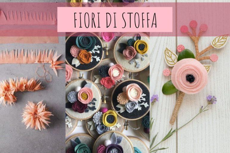 fiori di stoffa cucito facile idee per la casa