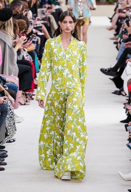abito lungo estivo tessuto fantasia floreale giallo
