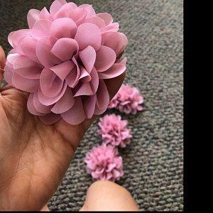fiori di tessuto chiffon fai da te