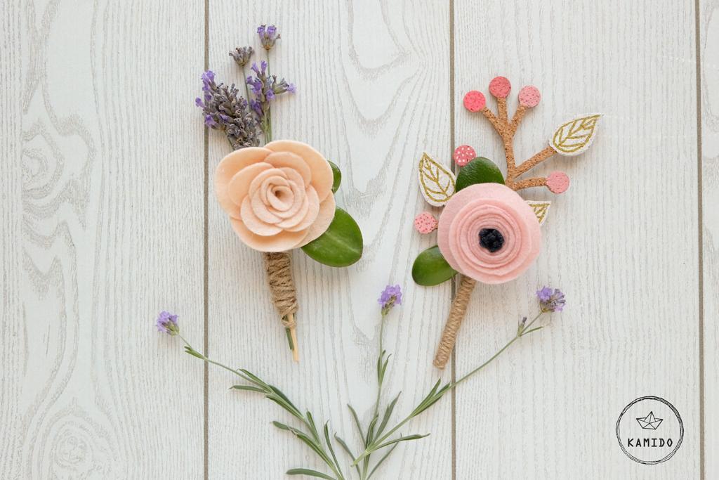 fiori di feltro per decorare la casa in primavera