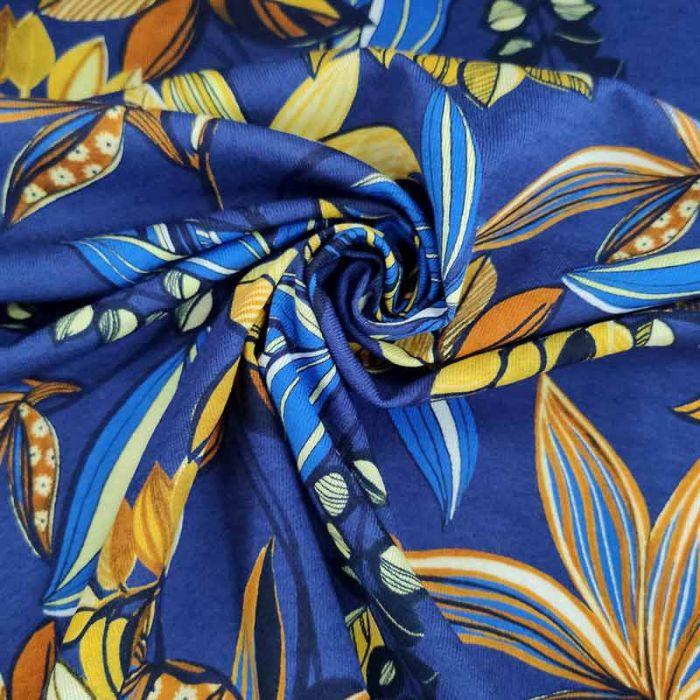 tessuto maglina sfondo blu per abiti estivi