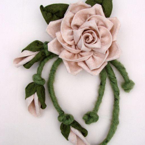 rosa di stoffa fiore di tessuto