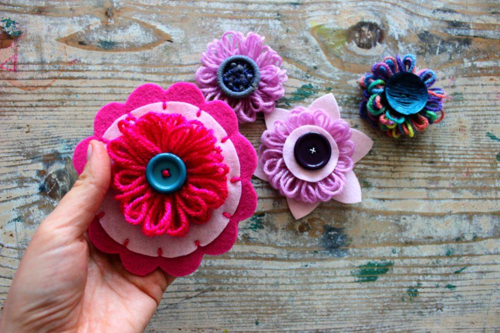 come creare fiori decorativi in feltro e pannolenci