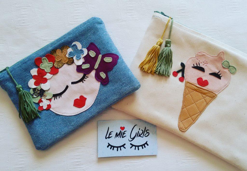 borse pochette accessori moda personalizzati cuciti a mano