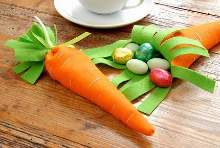 sacchetto porta ovetti di pasqua carota